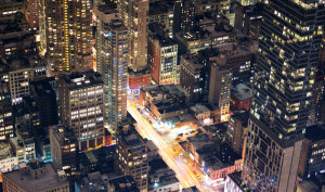 View of Manhattan at night